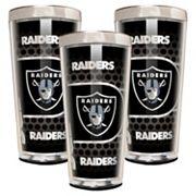 Oakland Raiders 3 pc Shot Glass Set