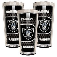 Oakland Raiders 3 pc Shot Glass Set