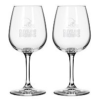Boelter Cleveland Browns 2-Pack Etched Wine Glasses