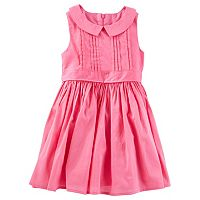 Toddler Girl OshKosh B'gosh® Pink Pleated Peter Pan Collar Dress