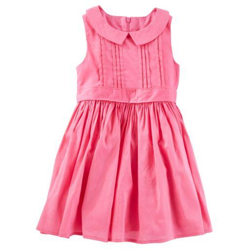 Toddler Girl OshKosh B'gosh® Pink Pleated Peter Pan Collar Dress
