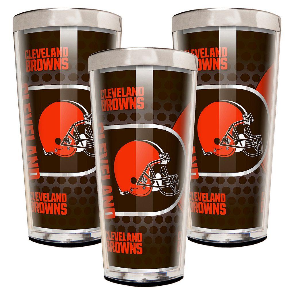 Cleveland Browns 3-Piece Shot Glass Set