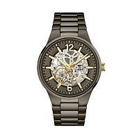 Caravelle New York by Bulova Men's Stainless Steel Automatic Skeleton Watch - 45A137