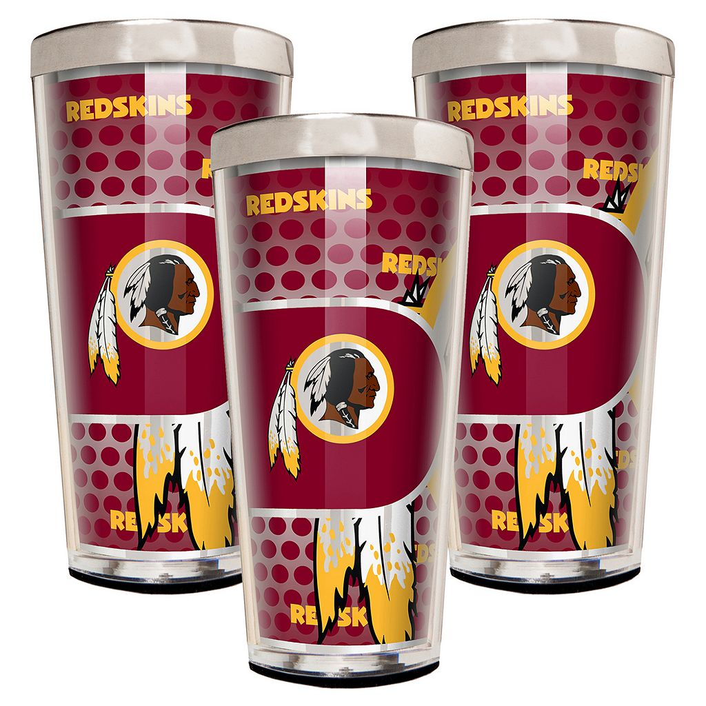 Washington Redskins 3-Piece Shot Glass Set