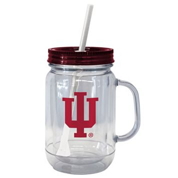 Boelter Brands Indiana Hoosiers 20-Ounce Plastic Mason Jar Tumbler