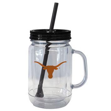 Boelter Brands Texas Longhorns 20-Ounce Plastic Mason Jar Tumbler