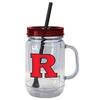 Boelter Brands Rutgers Scarlet Knights 20-Ounce Plastic Mason Jar Tumbler