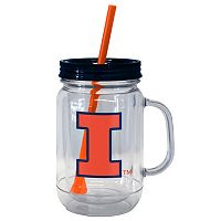 Boelter Brands Illinois Fighting Illini 20-Ounce Plastic Mason Jar Tumbler