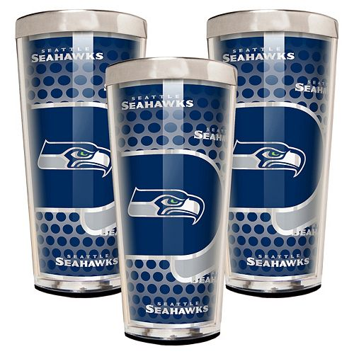 Seattle Seahawks 3-Piece Shot Glass Set