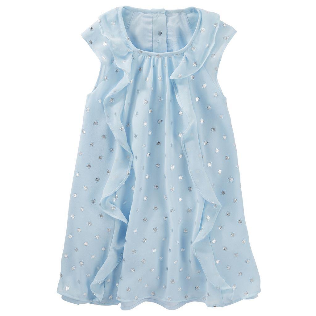 Toddler Girl OshKosh B'gosh® Chiffon Foil Polka-Dot Dress