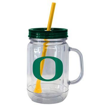 Boelter Brands Oregon Ducks 20-Ounce Plastic Mason Jar Tumbler
