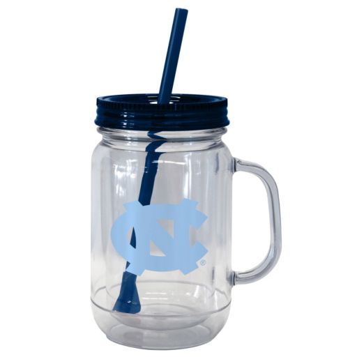 Boelter Brands North Carolina Tar Heels 20-Ounce Plastic Mason Jar Tumbler