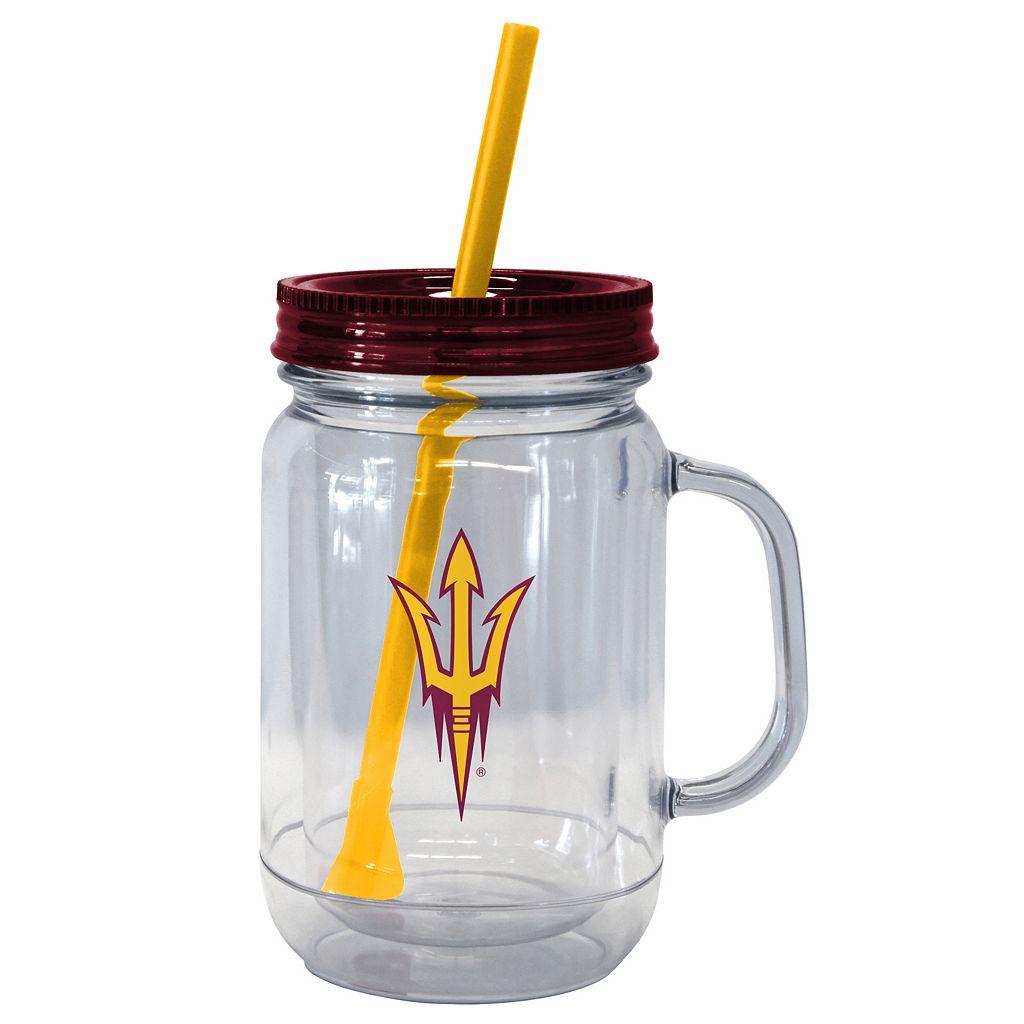 Boelter Brands Arizona State Sun Devils 20-Ounce Plastic Mason Jar Tumbler