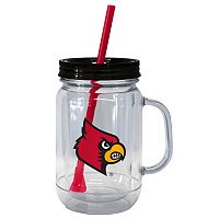 Boelter Brands Louisville Cardinals 20-Ounce Plastic Mason Jar Tumbler