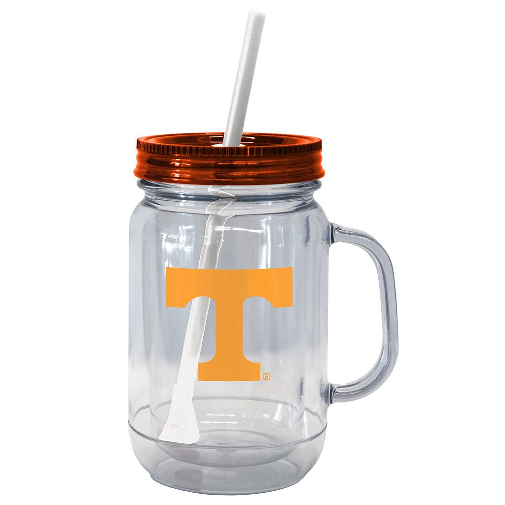 Boelter Brands Tennessee Volunteers 20-Ounce Plastic Mason Jar Tumbler