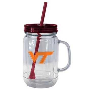 Boelter Brands Virginia Tech Hokies 20-Ounce Plastic Mason Jar Tumbler