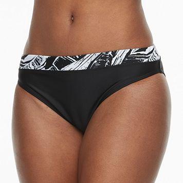 Women's RBX Batik-Trim Scoop Bikini Bottoms
