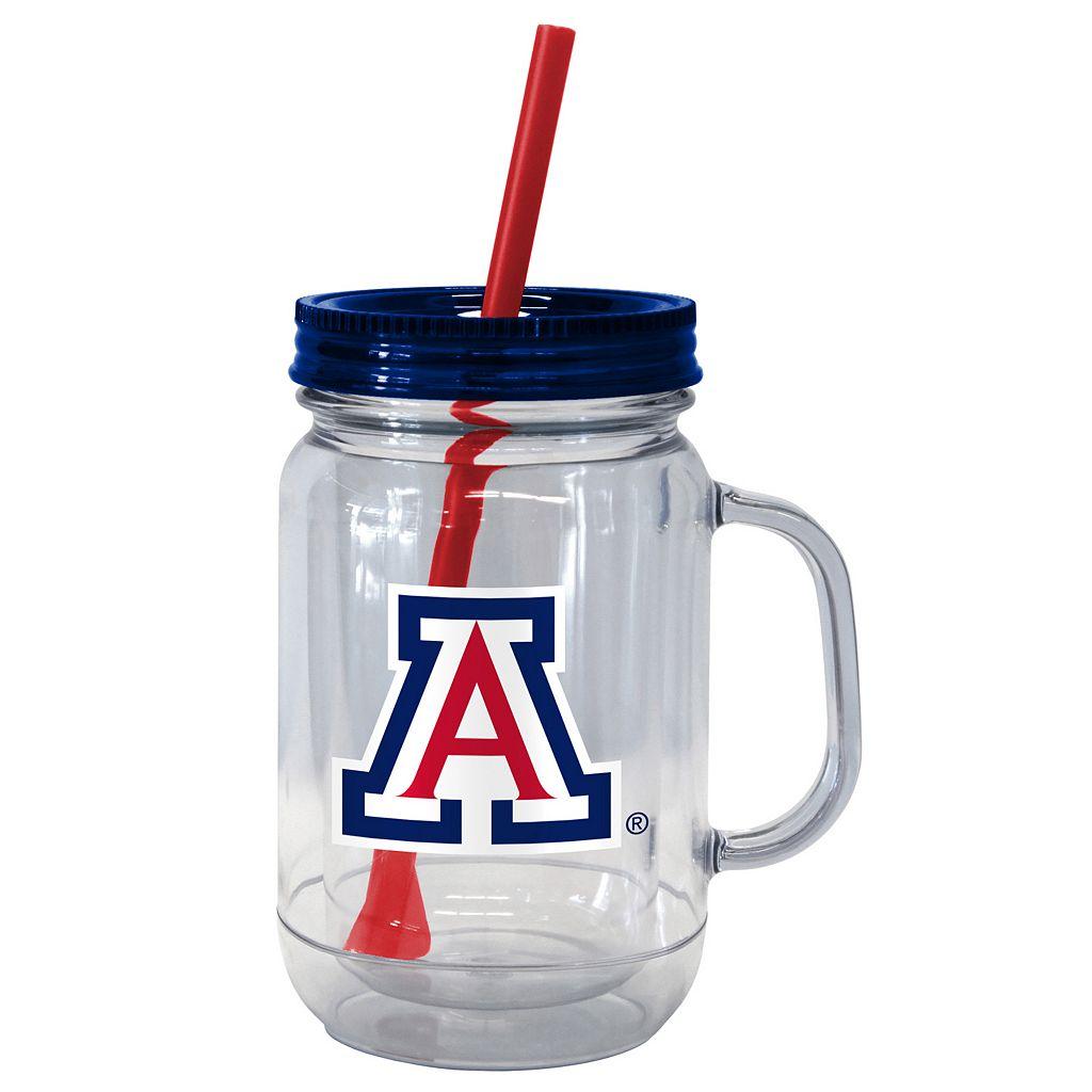 Boelter Brands Arizona Wildcats 20-Ounce Plastic Mason Jar Tumbler