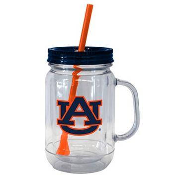Boelter Brands Auburn Tigers 20-Ounce Plastic Mason Jar Tumbler