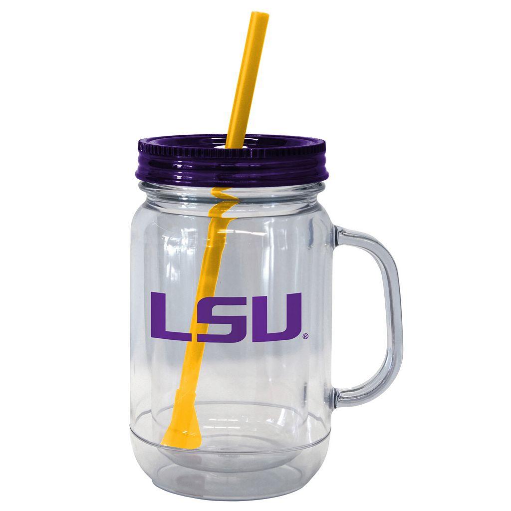 Boelter Brands LSU Tigers 20-Ounce Plastic Mason Jar Tumbler