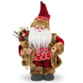 National Tree Company Fairisle Musical Santa Christmas Table Decor
