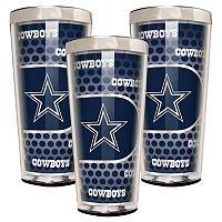 Dallas Cowboys 3 pc Shot Glass Set