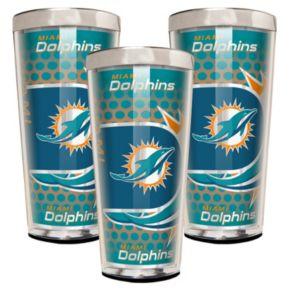 Miami Dolphins 3-Piece Shot Glass Set