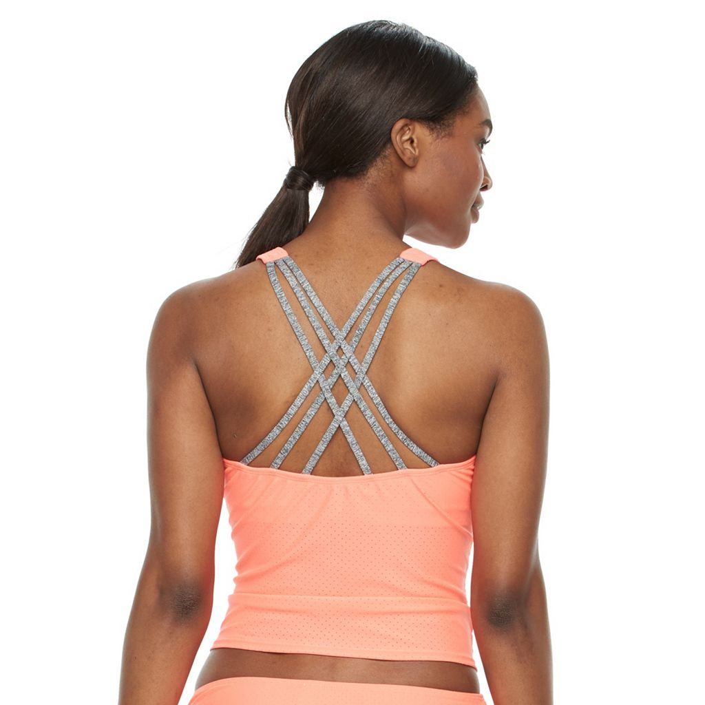 Women's RBX Mesh Strappy Tankini Top