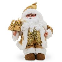National Tree Company Sequin Musical Santa Christmas Table Decor