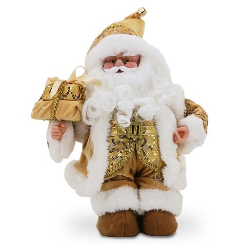 National Tree Company Sequin Musical Santa Christmas Table Decor