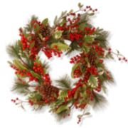 "National Tree Company 28"" Artificial Red Berry Holiday Christmas Wreath"