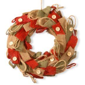 "National Tree Company 12"" Burlap Holiday Christmas Wreath"