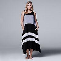 Plus Size Simply Vera Vera Wang Pajamas: Whisper Garden Tank Maxi Dress