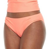 Women's RBX Mesh Shirred Bikini Bottoms