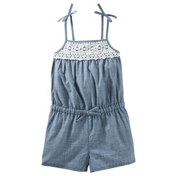 Toddler Girl OshKosh B'gosh® Lace Chambray Romper