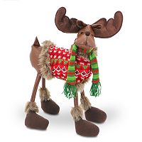 National Tree Company 24 in Fairisle Moose Decor