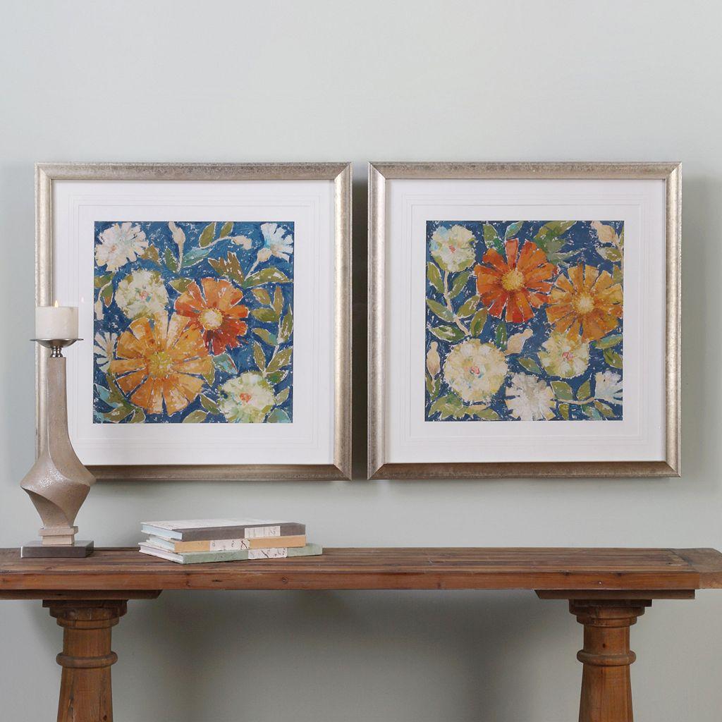 April Flowers Framed Wall Art 2-piece Set