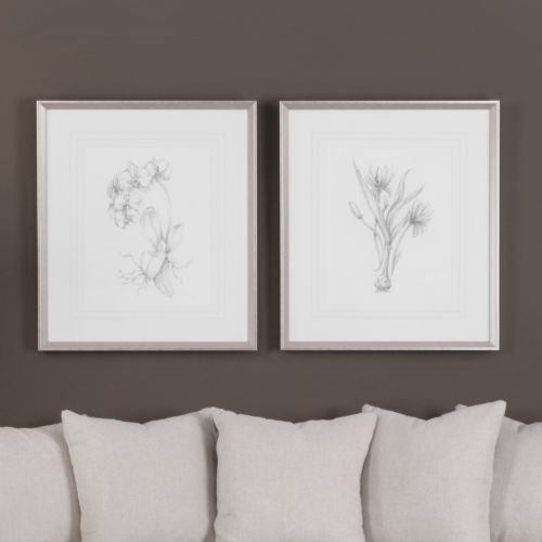 Botanical Sketches Framed Wall Art 2-piece Set