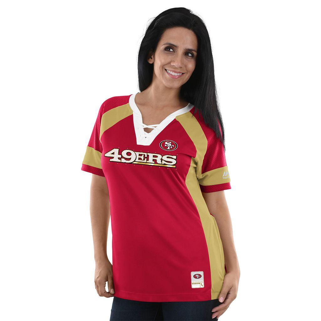 Women's Majestic San Francisco 49ers Draft Me Fashion Top