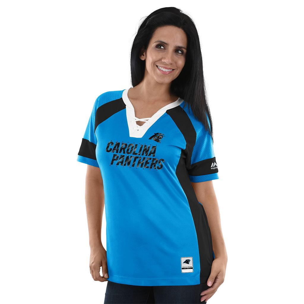 Women's Majestic Carolina Panthers Draft Me Fashion Top