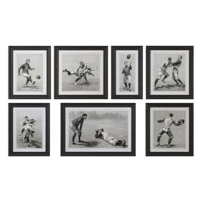 Vintage Football Techniques Framed Wall Art 7-piece Set