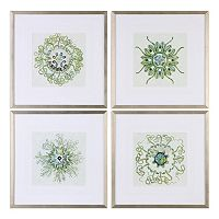 Organic Symbols Framed Wall Art 4-piece Set