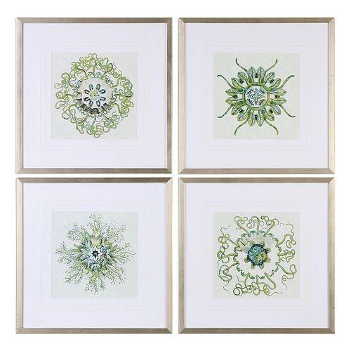 Uttermost Organic Symbols Framed Wall Art 4-piece Set