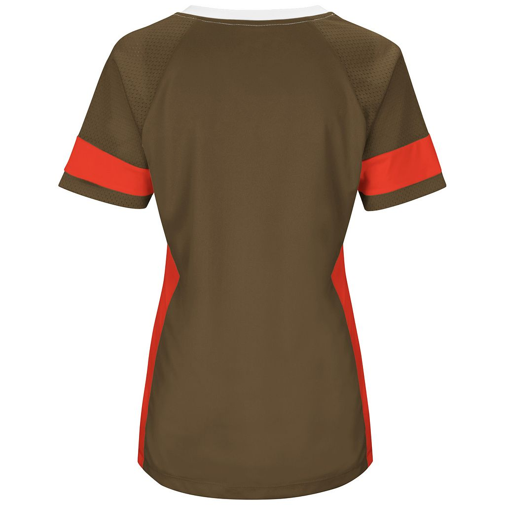 Women's Majestic Cleveland Browns Draft Me Fashion Top