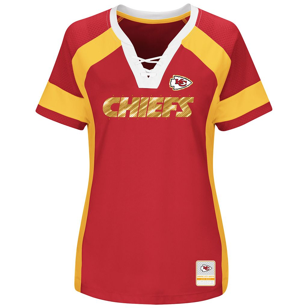Women's Majestic Kansas City Chiefs Draft Me Fashion Top