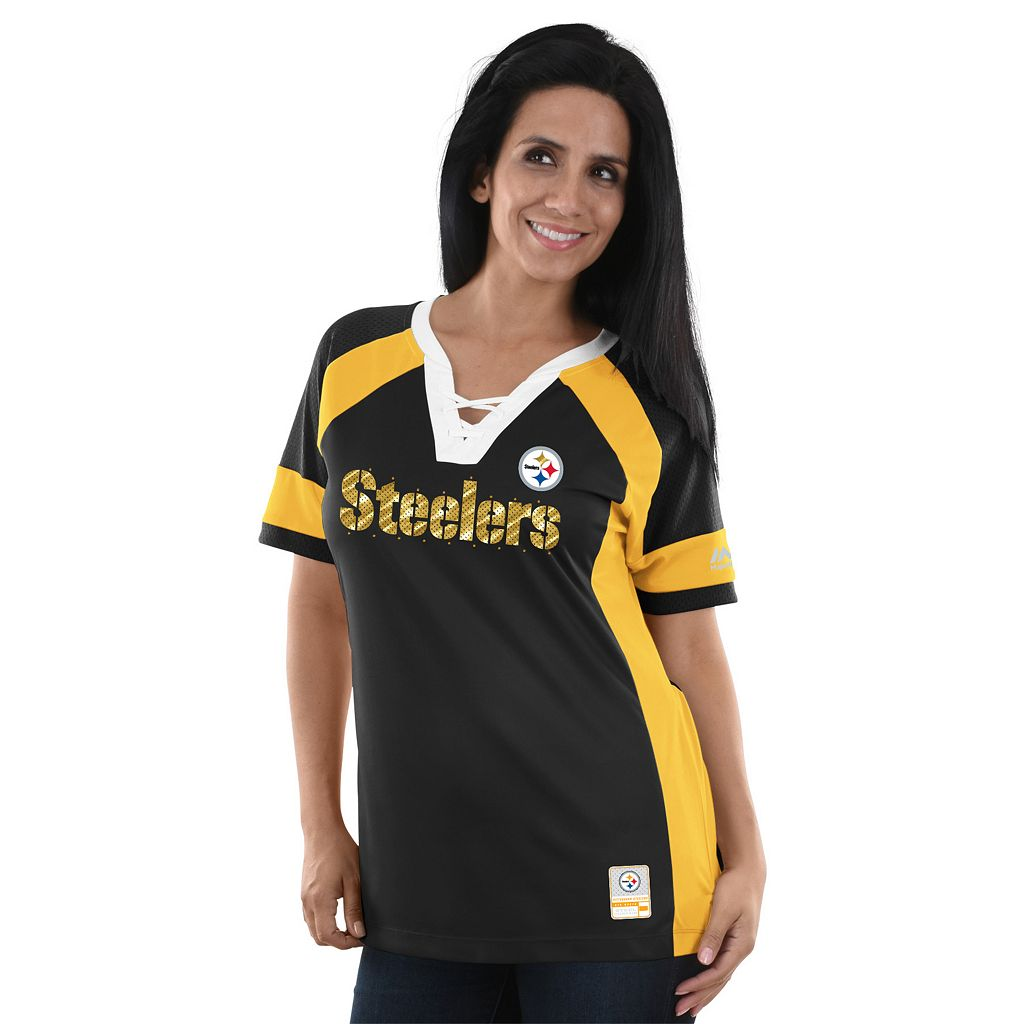 Women's Majestic Pittsburgh Steelers Draft Me Fashion Top