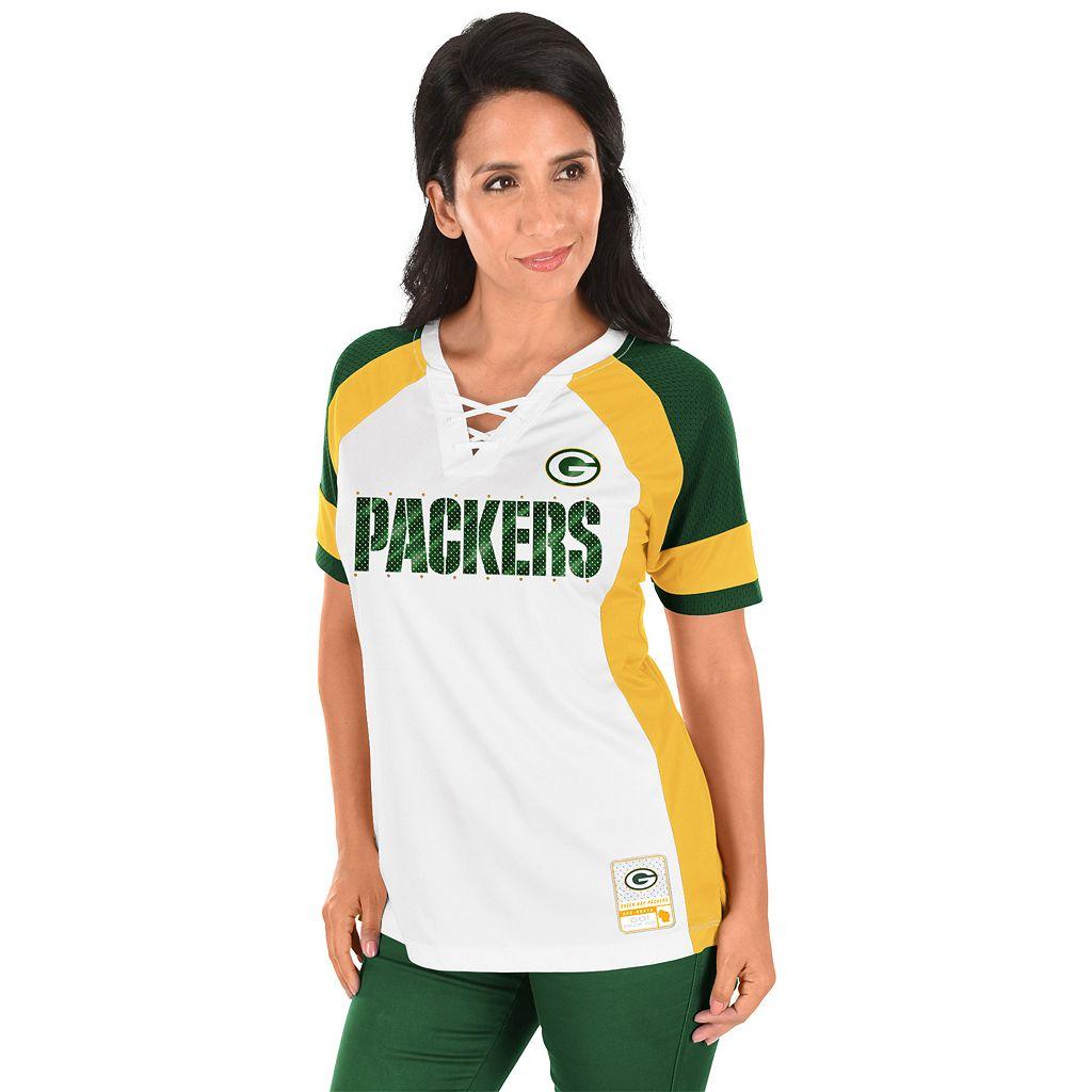 Women's Majestic Green Bay Packers Draft Me Fashion Top