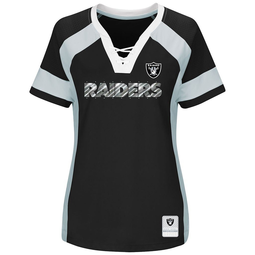 Women's Majestic Oakland Raiders Draft Me Fashion Top