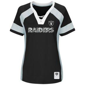 Women's Majestic Oakland Raiders Draft Me Fashion Top