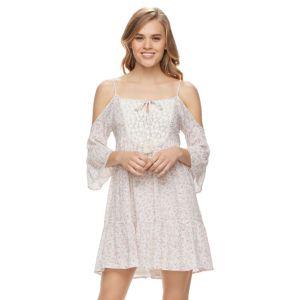 Juniors' Rewind Floral Off-the-Shoulder Shift Dress